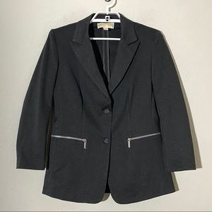 Michael Kors Two Button Blazer Zip Pockets Sz M